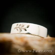 แหวนก้านใบมะกอก แหวนเงินแท้ แหวนแห่งชัยชนะ แหวนเงินเกลี้ยง