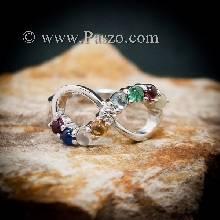 แหวนนพเก้า แหวนอินฟินิตี้ แหวนเงินแท้ แหวนผู้หญิง