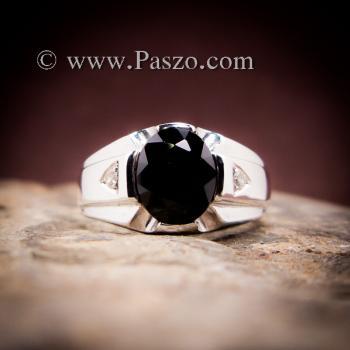 แหวนแห่งแสง แหวนนิลผู้ชาย แหวนผู้ชายเงินแท้ #2