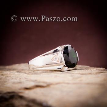 แหวนแห่งแสง แหวนนิลผู้ชาย แหวนผู้ชายเงินแท้ #3