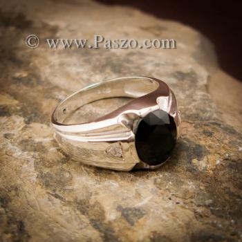 แหวนแห่งแสง แหวนนิลผู้ชาย แหวนผู้ชายเงินแท้ #5