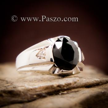 แหวนแห่งแสง แหวนนิลผู้ชาย แหวนผู้ชายเงินแท้ #6