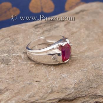 แหวนแห่งแสง แหวนทับทิม แหวนผู้ชายเงินแท้ #2