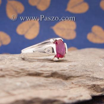 แหวนแห่งแสง แหวนทับทิม แหวนผู้ชายเงินแท้ #3