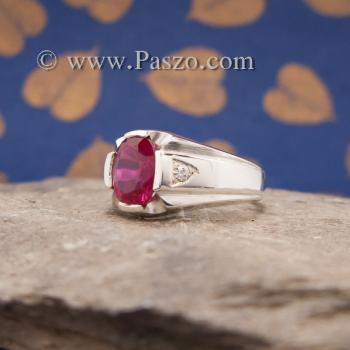 แหวนแห่งแสง แหวนทับทิม แหวนผู้ชายเงินแท้ #4