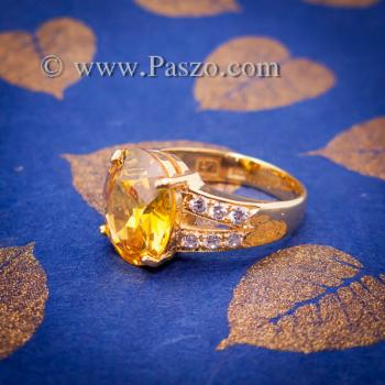 แหวนบุษราคัม แหวนทองแท้ ทอง90 #2