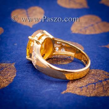 แหวนบุษราคัม แหวนทองแท้ ทอง90 #3
