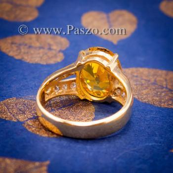แหวนบุษราคัม แหวนทองแท้ ทอง90 #4