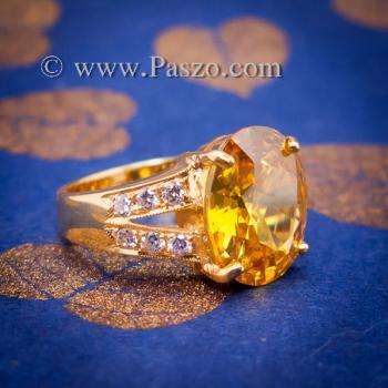 แหวนบุษราคัม แหวนทองแท้ ทอง90 #5