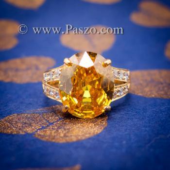 แหวนบุษราคัม แหวนทองแท้ ทอง90 #6