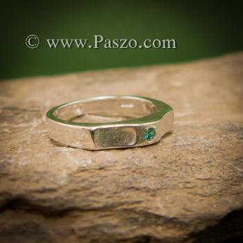 แหวนพลอยสีฟ้า แหวนเงิน พลอยสีฟ้า #2