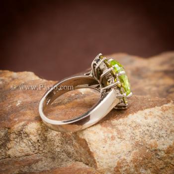 แหวนเพริดอต ล้อมพลอย บุษราคัม #5