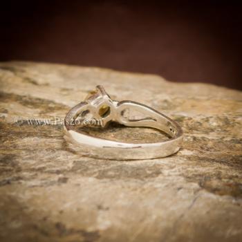 แหวนบุษราคัม แหวนพลอยสีเหลือง เม็ดกลม #2