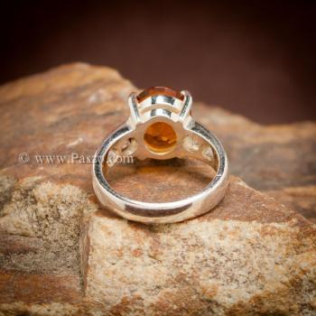 แหวนพลอยแม่โขง แหวนบุษราคัม บ่าแหวนฝังเพชร #4