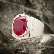 แหวนทับทิม แหวนผู้ชาย แหวนพลอยทับทิม แหวนพลอยสีแดง แหวนเงินแท้ แหวนทับทิมผู้ชาย