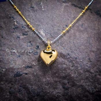 จี้หัวใจ จี้ทองชุบ จี้พร้อมสร้อยคอ #3