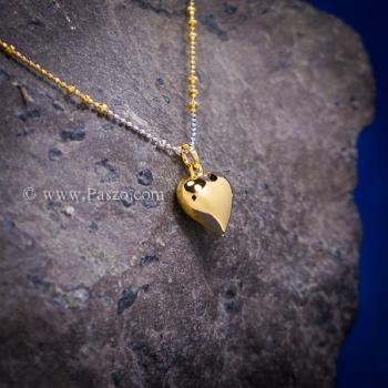 จี้หัวใจ จี้ทองชุบ จี้พร้อมสร้อยคอ #2
