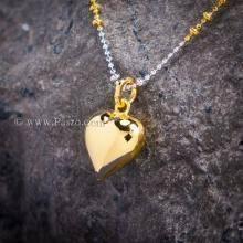 จี้หัวใจ จี้ทองชุบ จี้พร้อมสร้อยคอ