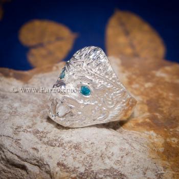 แหวนหนุมาน พลอยสีฟ้า บูลโทพาซ #4