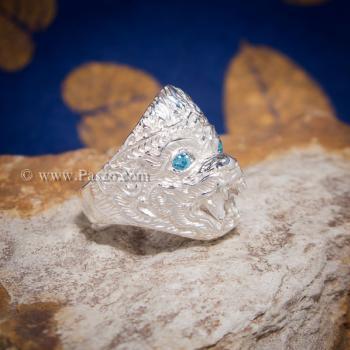 แหวนหนุมาน พลอยสีฟ้า บูลโทพาซ #3