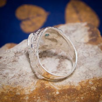 แหวนหนุมาน พลอยสีฟ้า บูลโทพาซ #2