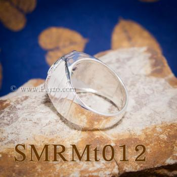 แหวนนพเก้าผู้ชาย แหวนผู้ชายเงินแท้ พลอยนพเก้าแท้ #5