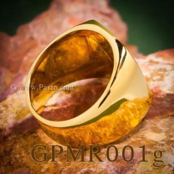 แหวนสี่เหลี่ยมหน้าเรียบ แหวนทองชุบ แหวนผู้ชาย #8