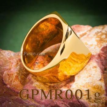 แหวนสี่เหลี่ยมหน้าเรียบ แหวนทองชุบ แหวนผู้ชาย #5
