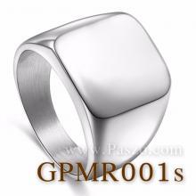 แหวนสี่เหลี่ยมหน้าเรียบ แหวนสแตนเลส แหวนผู้ชาย แหวนทรงสี่เหลี่ยม แหวนเทห์ๆ