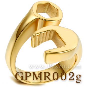 แหวนประแจ แหวนชุบทอง แหวนสแตนเลส #2