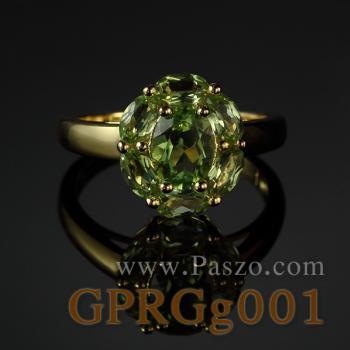 แหวนชุบทอง แหวนเพอริดอท พลอยเพอริดอท #2