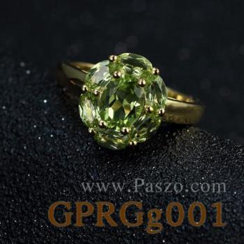 แหวนชุบทอง แหวนเพอริดอท พลอยเพอริดอท #3
