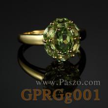 แหวนชุบทอง แหวนเพอริดอท พลอยเพอริดอท แหวนเงินชุบทอง