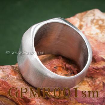 แหวนสี่เหลี่ยมหน้าเรียบ แหวนสแตนเลส ปัดด้าน #5
