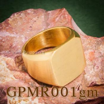 แหวนสี่เหลี่ยมหน้าเรียบ แหวนทองชุบ ปัดด้าน #7