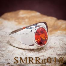 แหวนพลอยสีส้ม แหวนผู้ชายเงินแท้ พลอยโกเมน แหวนผู้ชาย แหวนผู้ชายแบบเรียบๆ