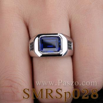 แหวนพลอยไพลิน ฝังนิล แหวนผู้ชาย #3