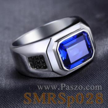 แหวนพลอยไพลิน ฝังนิล แหวนผู้ชาย #2