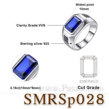 แหวนพลอยไพลิน ฝังนิล แหวนผู้ชาย #5