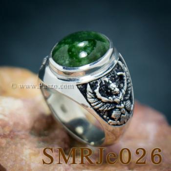 แหวนหยก แหวนพญาครุฑ แหวนผู้ชายเงินแท้ #6