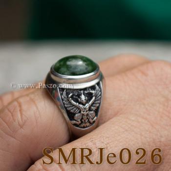 แหวนหยก แหวนพญาครุฑ แหวนผู้ชายเงินแท้ #3