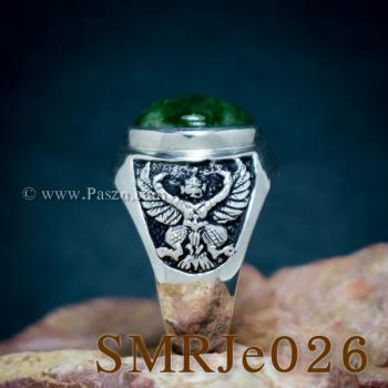 แหวนหยก แหวนพญาครุฑ แหวนผู้ชายเงินแท้ #4