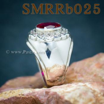แหวนพลอยสีแดง แหวนผู้ชาย แหวนผู้ชายเงินแท้ #4