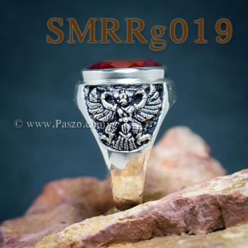 แหวนพลอยโกเมน แหวนครุฑ รมดำ #4