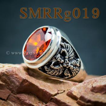 แหวนพลอยโกเมน แหวนครุฑ รมดำ #3