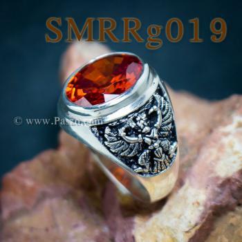 แหวนพลอยโกเมน แหวนครุฑ รมดำ #5