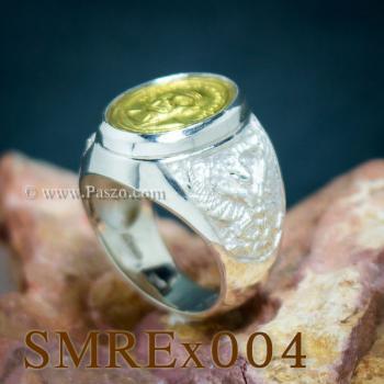 แหวนครุฑ เหรียญหลวงปู่ทวด แหวนผู้ชาย #6