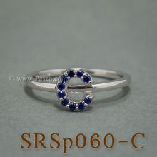 แหวนตัวอักษร แหวนตัวซี C แหวนเงิน ฝังไพลิน แหวนไพลิน