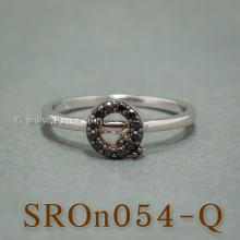 แหวนตัวอักษร แหวนตัวคิว Q แหวนเงิน ฝังนิล แหวนนิล