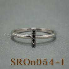 แหวนตัวอักษร แหวนตัวไอ I แหวนเงิน ฝังนิล แหวนนิล